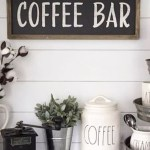 DIY Coffee Bar Ideas – Stunning Farmhouse Style Beverage Stations for Small Spaces and Tiny Kitchens