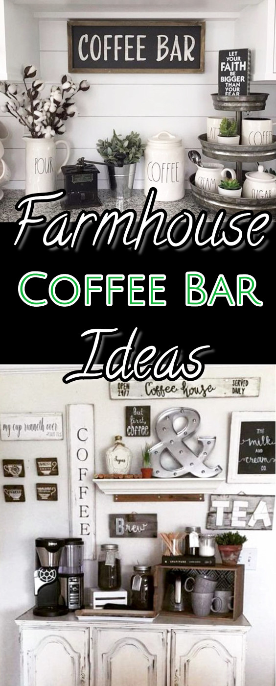Diy coffee bar ideas stunning farmhouse style beverage for Coffee decor ideas for kitchen