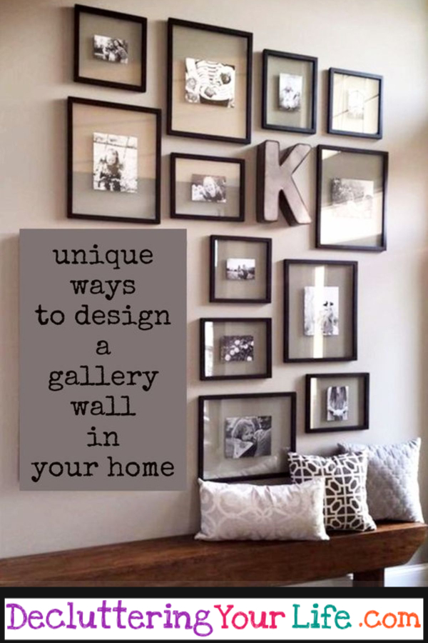 DIY Gallery Wall Ideas and Accent Wall Layouts for Family Photos and Pictures #diyhomedecor #homeideas #decoratingideas #livingroomideas #homedecorideas