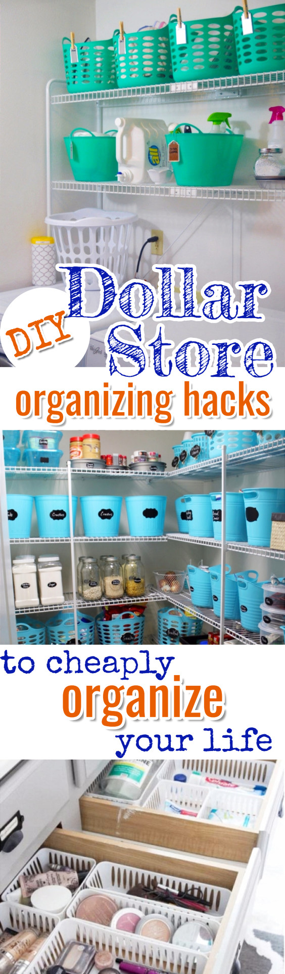 Cheap organizing ideas #getorganized #gettingorganized #organizationideasforthehome #diyhomedecor #organizingideas #cleaninghacks #lifehacks #diyideas