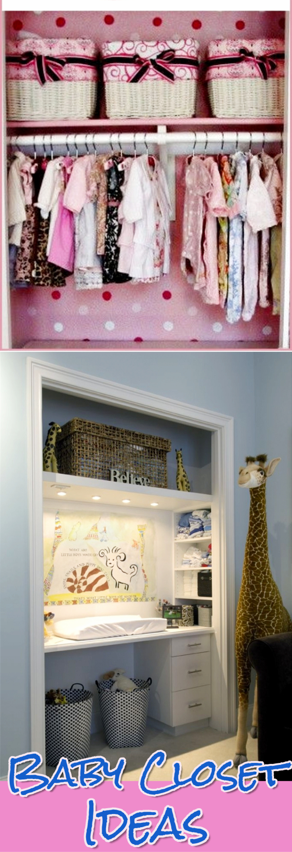 Baby Closet Organization Ideas   How To Organize The Baby Closet   DIY Nursery  Closet Organization