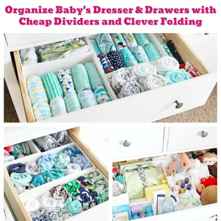 Nursery organization ideas - organize baby clothese - Getting Organized - 50+ Easy DIY organization Ideas To Help Get Organized