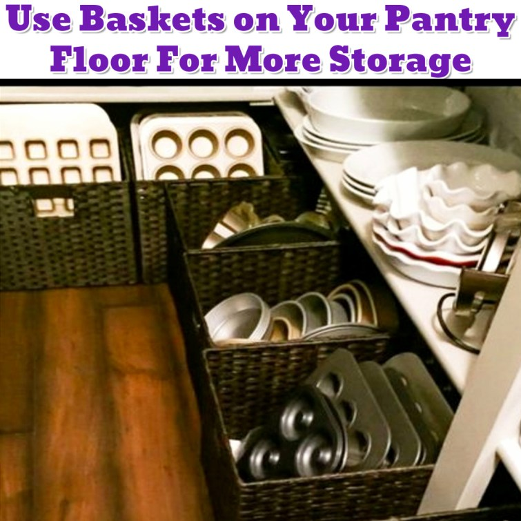 Pantry organization idea to get more space in your pantry - Getting Organized - 50+ Easy DIY organization Ideas To Help Get Organized
