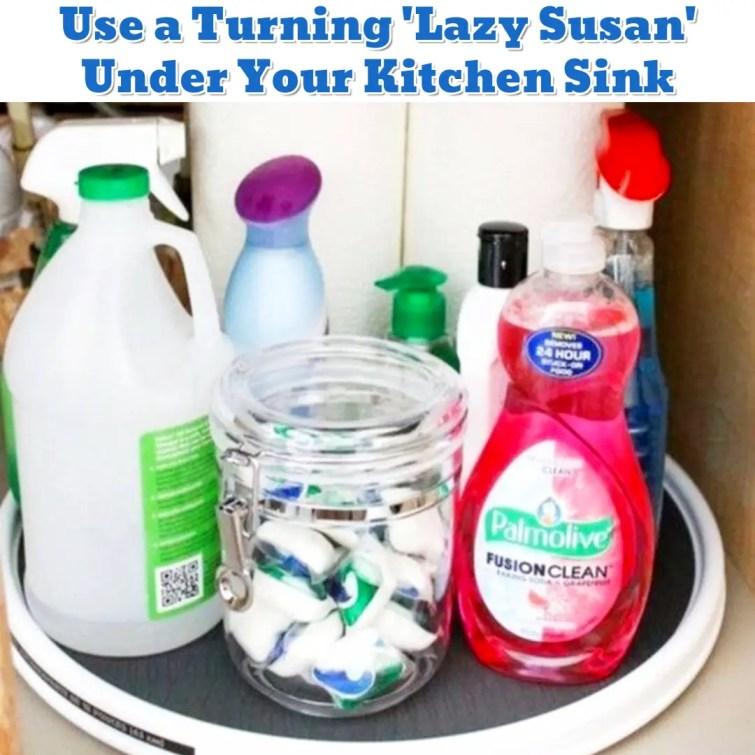 Under Kitchen Sink Organization Hack - Getting Organized - 50+ Easy DIY organization Ideas To Help Get Organized