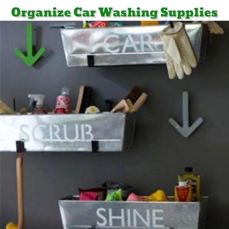 Garage Organization hack - Organize Car Supplies - Getting Organized - 50+ Easy DIY organization Ideas To Help Get Organized