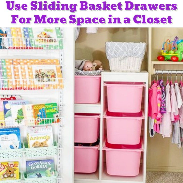 Baby closet organization idea for small nursery closet - Getting Organized - 50+ Easy DIY organization Ideas To Help Get Organized