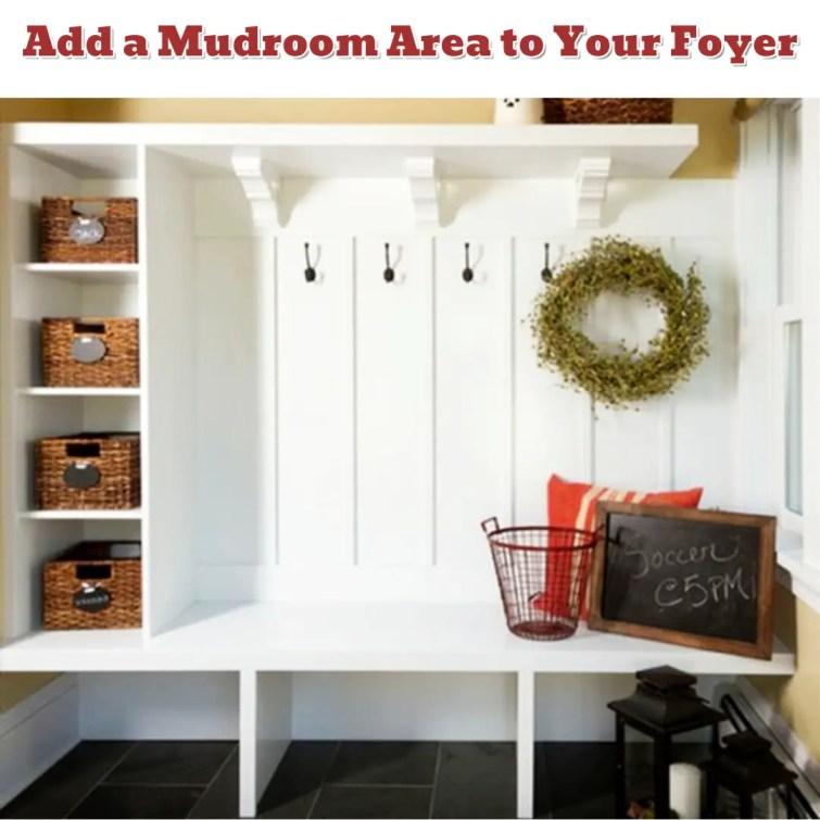 Foyer organization and mud room design idea - Getting Organized - 50+ Easy DIY organization Ideas To Help Get Organized