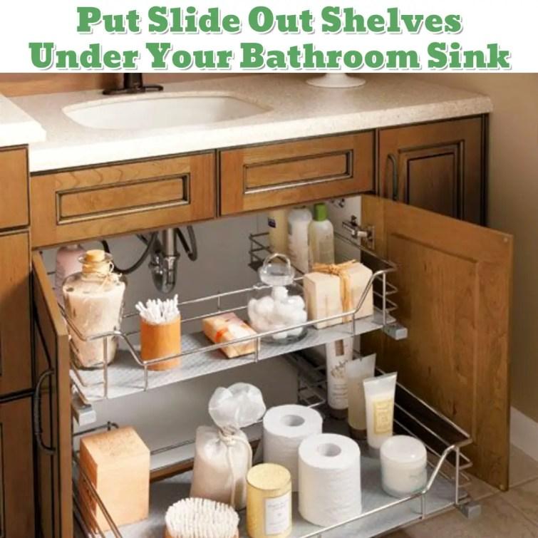 Under sink in bathroom organizing idea - Getting Organized - 50+ Easy DIY organization Ideas To Help Get Organized