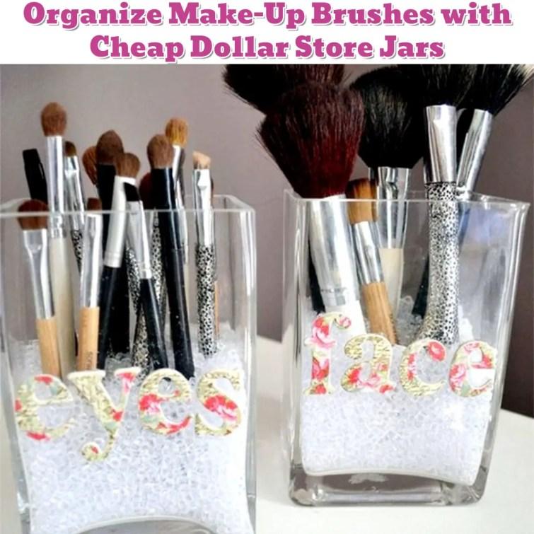 Make-Up Brush Organization Idea - Getting Organized - 50+ Easy DIY organization Ideas To Help Get Organized