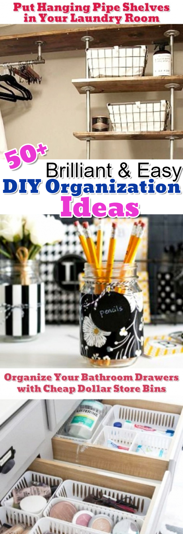 Some of the best getting organized help and DIY ideas I've seen on Pinterest