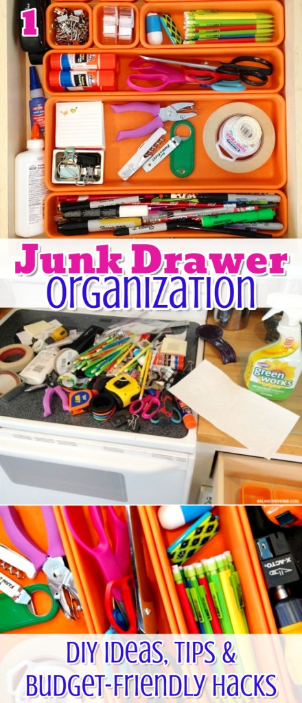 Cheap Junk Drawer Organizer Ideas - Super Simple Ways to Declutter and Organize Your Junk Drawer