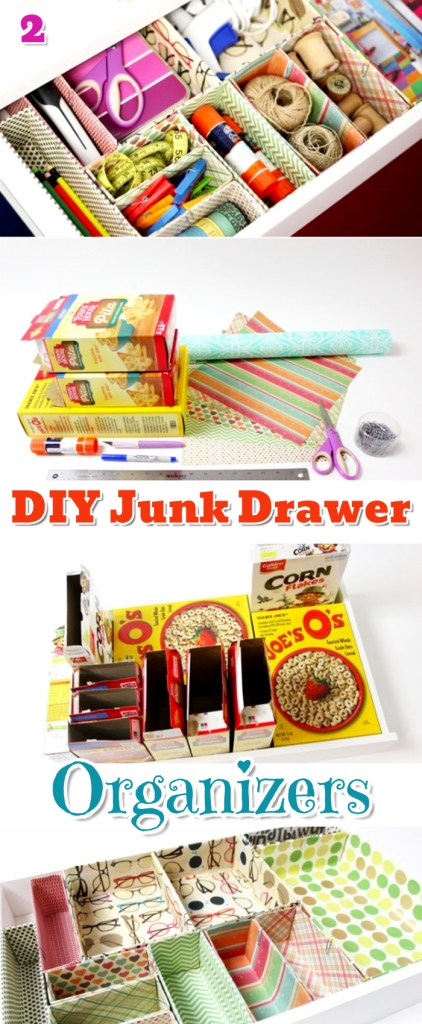DIY Drawer Dividers and Junk Drawer Organization Ideas, Tips and Hacks