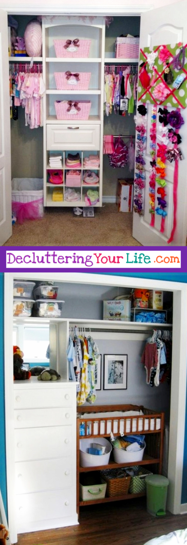 Baby Closet Organizer Ideas Part - 40: Nursery Closet Organization Ideas - Great DIY Ideas For Organizing The Baby  Closet