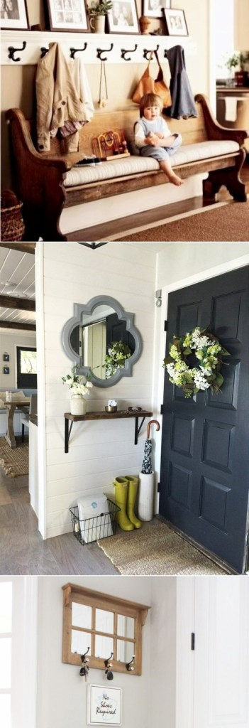 small entryways 29 small foyer decor ideas for tiny foyers. Black Bedroom Furniture Sets. Home Design Ideas
