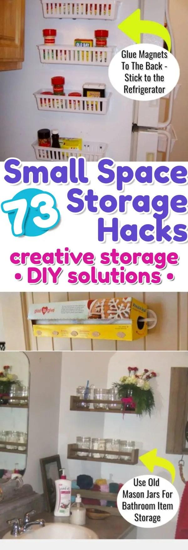 Storage Hacks For Small Spaces Small Space Storage Hacks  #organizationideasforthehome #getorganized #lifehacks #