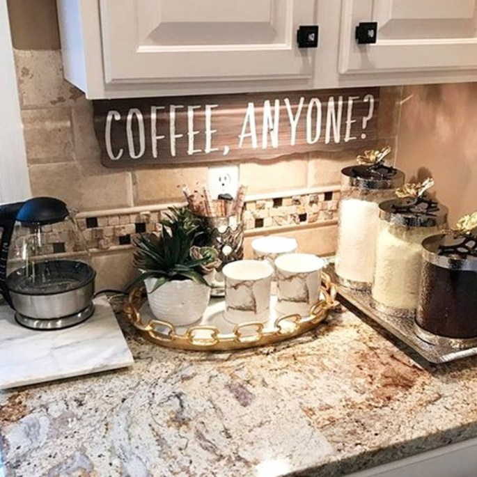 Home Decor Kitchen Ideas: 30+ DIY Kitchen Coffee Area Ideas