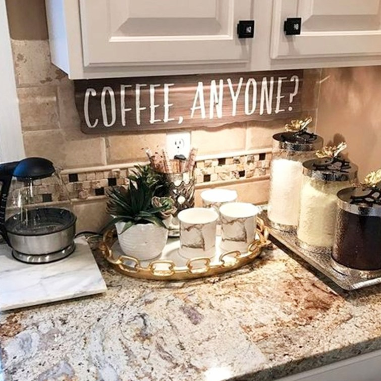 Love all these coffee area ideas for my kitchen
