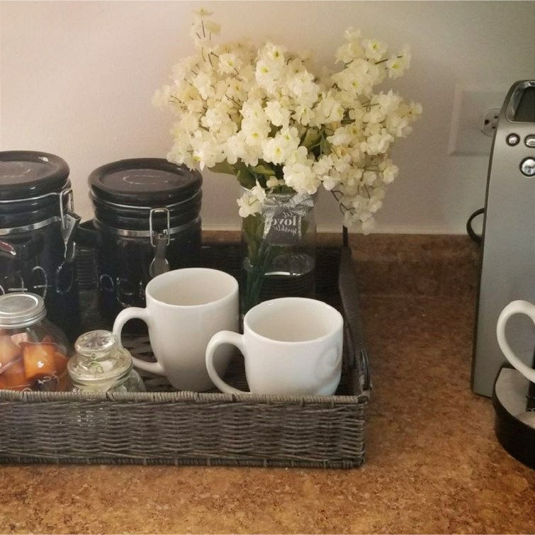 Coffee area idea for my dorm room - just love it!