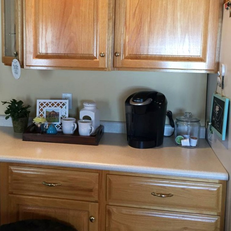 Kitchen coffee area ideas for the apartment
