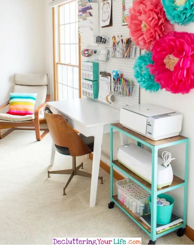 Craft Room Organization Furniture and DIY Ideas - Craft Room Organizing Ideas #gettingorganized #goals #organizationideasforthehome