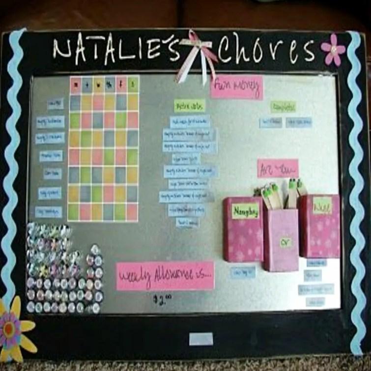 Kids Chore Charts - Family Chore Chart Ideas - DIY Chore Chart Ideas