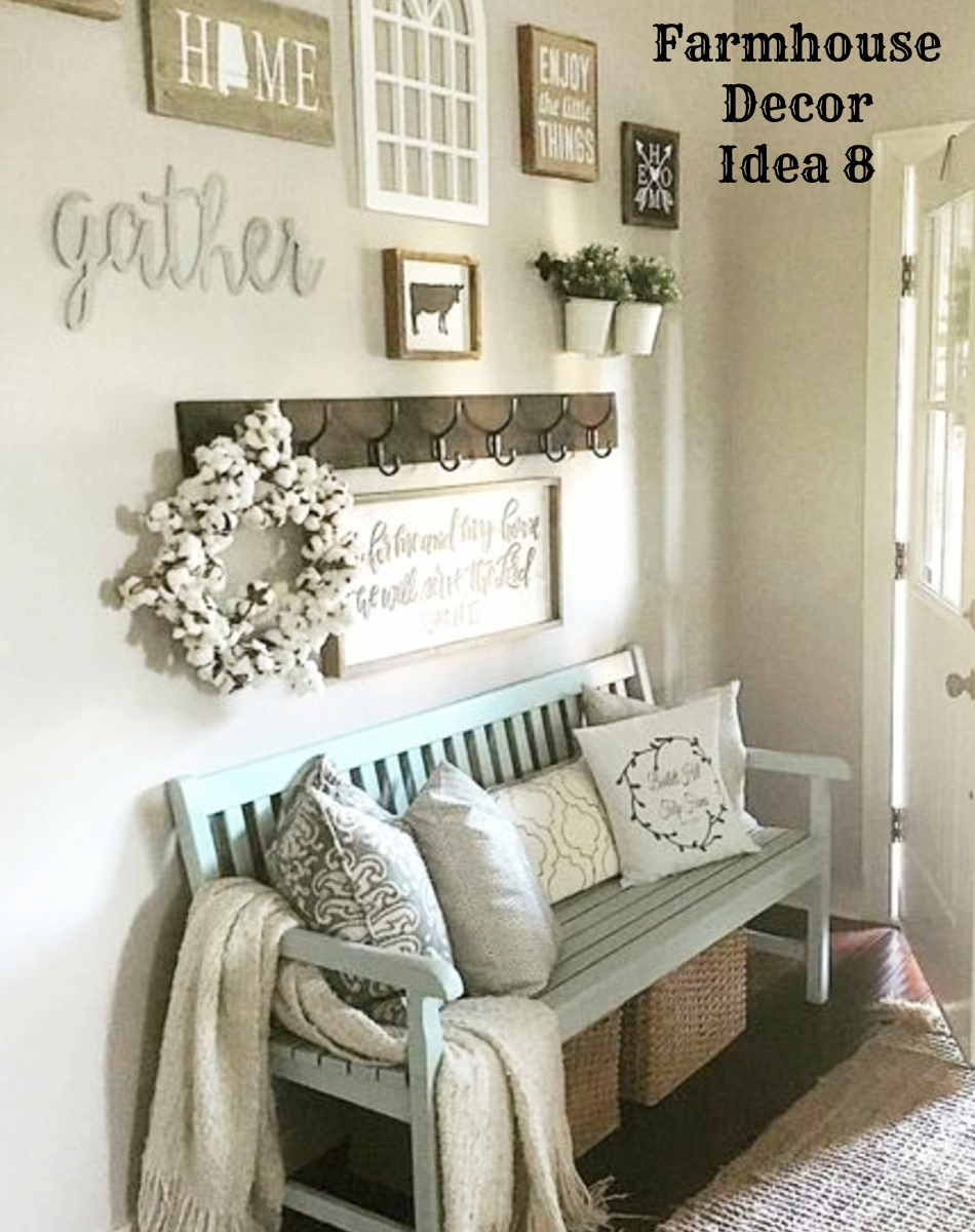 Superbe Farmhouse Decorating Ideas For A Small Foyer Or Entryway   Clutter Free Farmhouse  Decor Ideas
