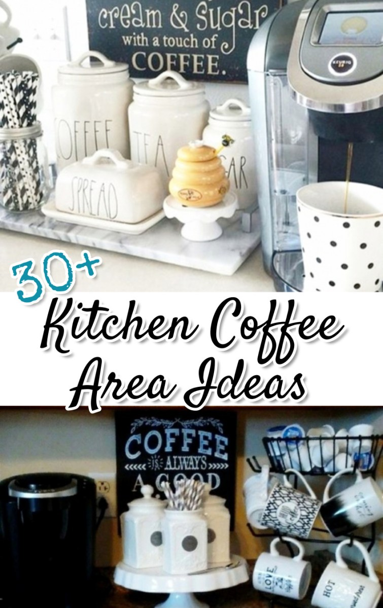 Kitchen Coffee Area Ideas on Pinterest - over 30 of the BEST coffee areas DIY ideas from other Pinterest users