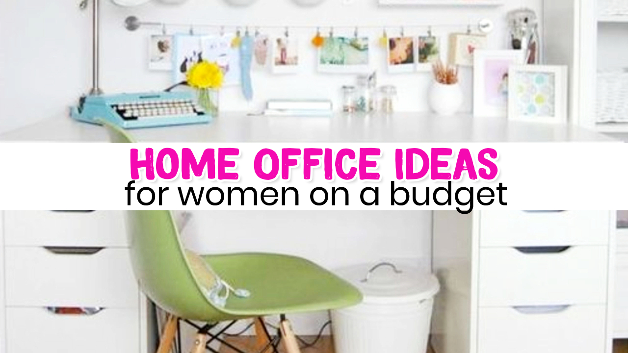 Home Office Ideas On A Budget For Women   Small Home Office Ideas