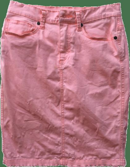 seed-pink-denim-skirt