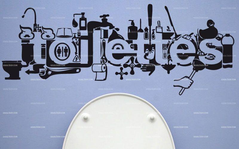 stickers muraux wc