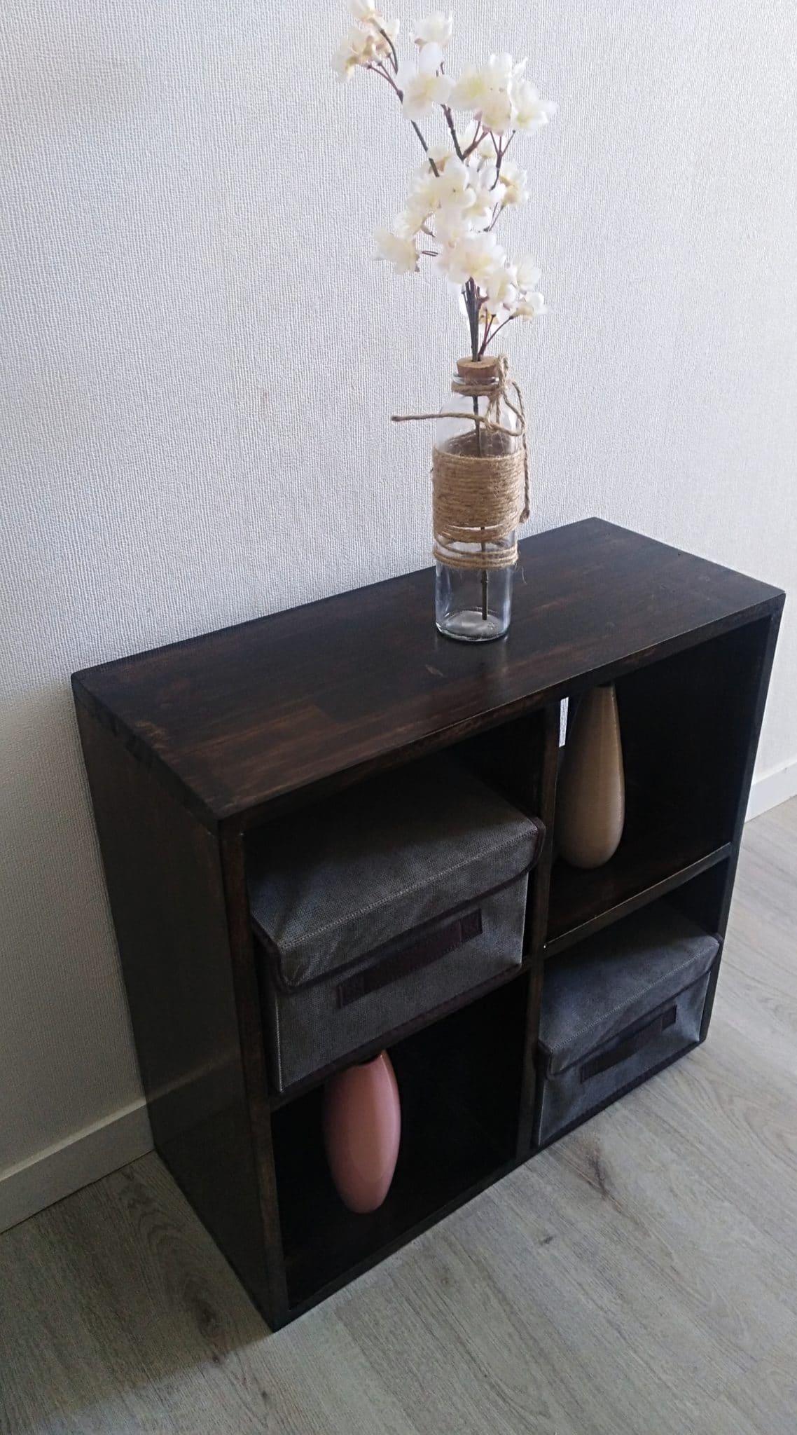 meuble de rangement 4 cubes en bois