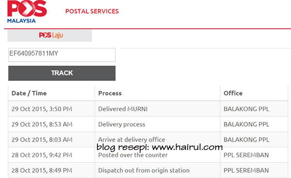 Contoh Tracking Pos Express