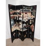 Coromandel Oriental Dressing Screen Ebonized Chinoiserie Folding Room Divider Deco2modern Mid Century Modern Furniture