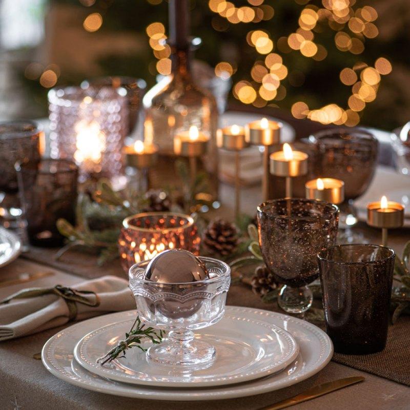 Bolas de Navidad para decorar la mesa