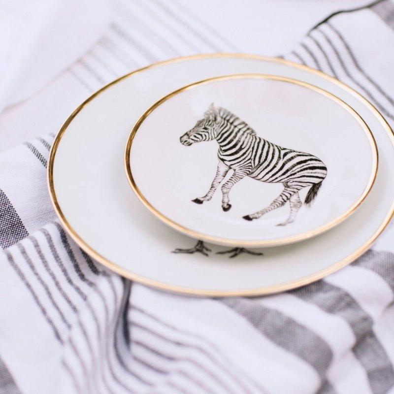 Platos de porcelana de Limoges