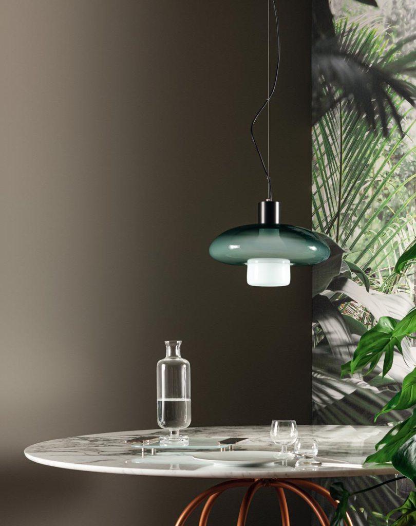 Lámparas de techo, de vidrio soplado