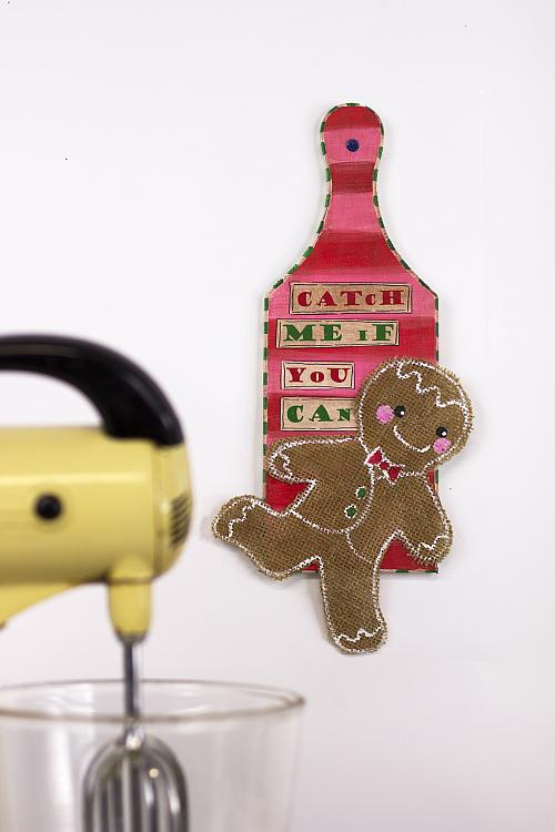 Catch Me If You Can Gingerbread Man Plaque Project By