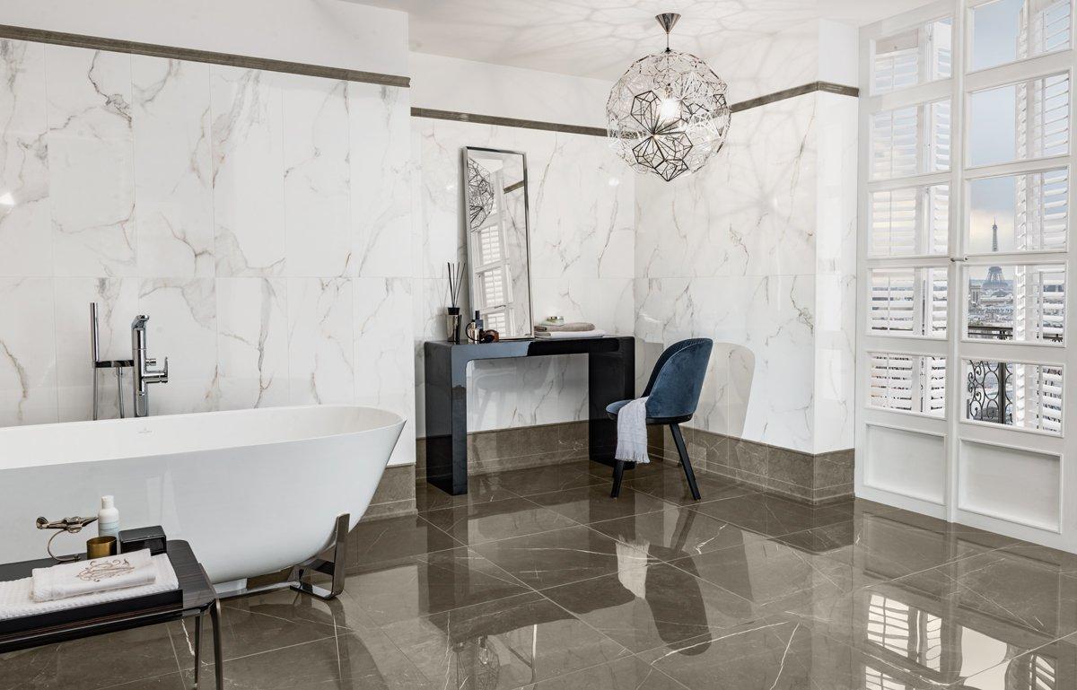 Marmurowy salon kąpielowy