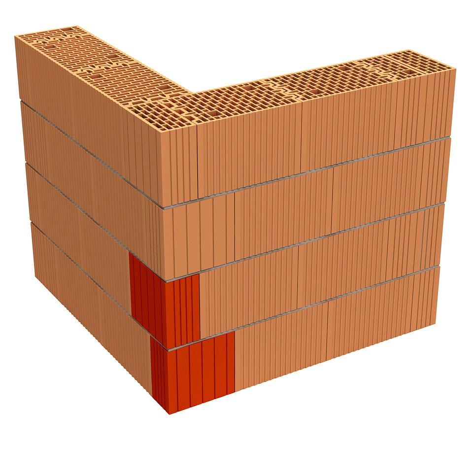 Narożnik, Porotherm 25 3x1/3 Dryfix