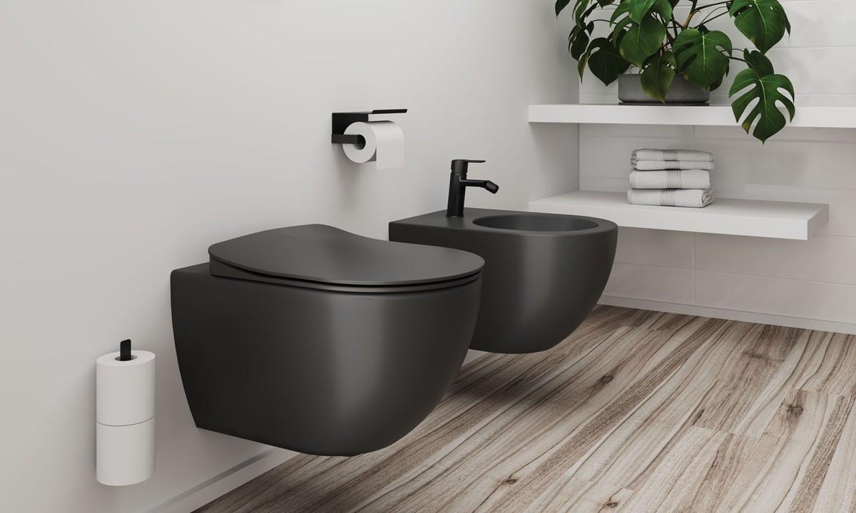 Postaw na kolor w łazience - antracyt