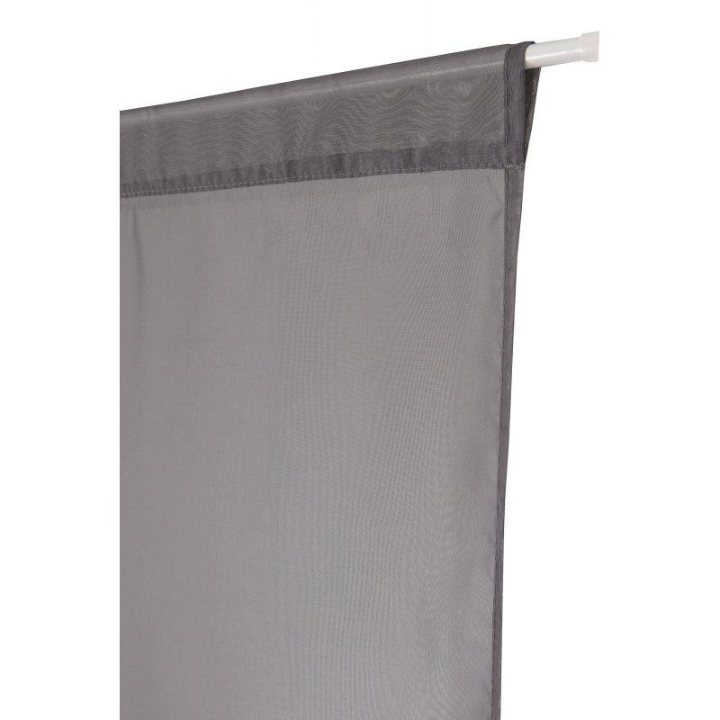 paire de vitrages 60 x 120 cm passe tringle effet lisse anthracite