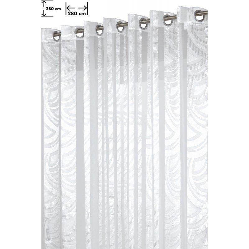 voilage grande largeur 280 x 280 cm a oeillets brillant contemporain blanc