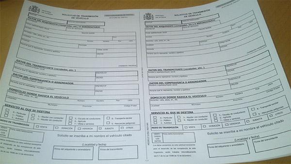 Notificación de venta de un vehículo en la DGT