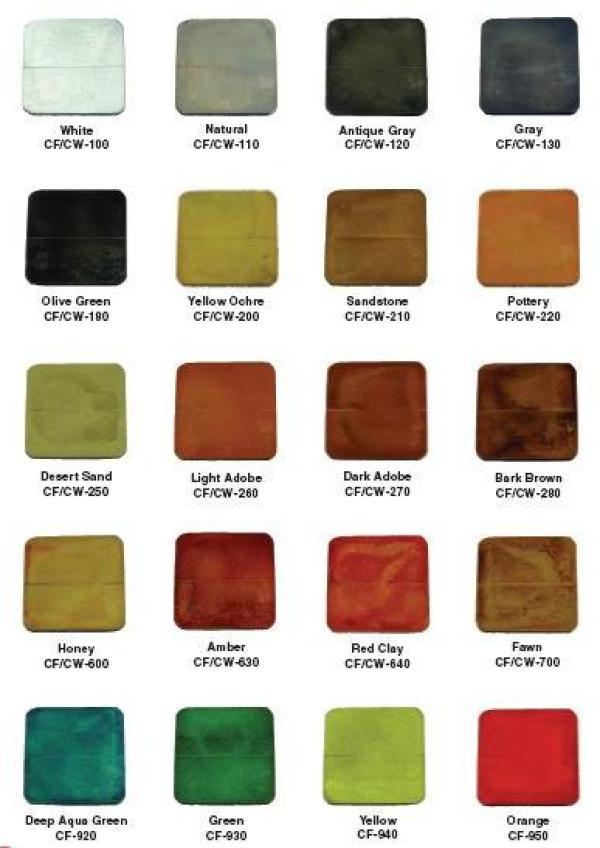 Decorative Concrete Services Water Base Color Chart