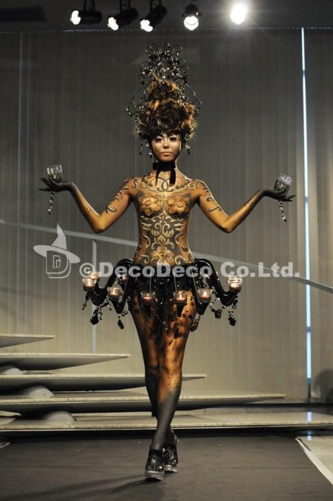 "Body Decoration Art Show 2011""Lumiera"" by Hitomi Fukai"
