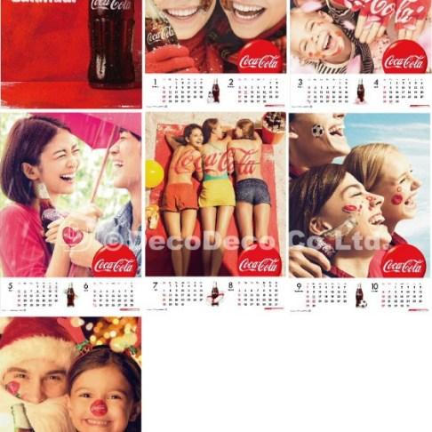 コカ・コーラ★2013カレンダー フェイス&ボディペインティング制作
