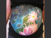 bellypaint-lotus/ベリーペイント「蓮の花」作品画像