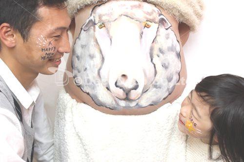 マタニティペイント「羊」