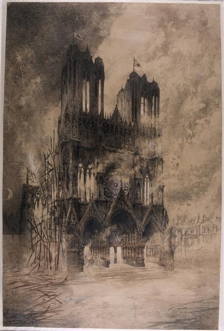 Incendie de la cathédrale de Reims en 1914