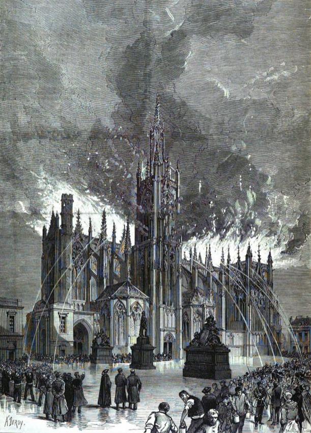incendie de la cathédrale de Metz